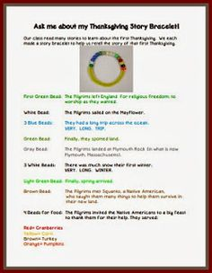 Our Thanksgiving Story Bracelet