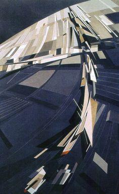 Vitra Firestation design stidy, 1990_zaha