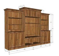 t the media center pictured was altered from the plan dimensions to better Furniture Projects, Furniture Plans, Diy Furniture, Easy Diy Projects, Home Projects, Woodworking Plans, Woodworking Projects, Home Depot, Bookshelf Plans