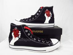 Converse Green Day American Idiot Chuck Taylor Shoes Sneakers BLACK 135837F #Converse #FashionSneakers