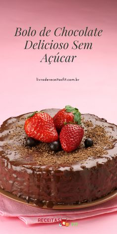 Bolos Light, Bolos Low Carb, Bolo Fit, Diabetes, Healthy Cake Recipes, Healthy Recipes, Healthy Meatloaf, Sugar Free Candy, Chocolate Delight