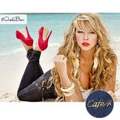 Los jeans son la prenda perfecta para crear combinaciones increíbles, todo gracias a su versatilidad y a que se ven muy bien con realmente casi cualquier cosa ... ¡No por nada los usamos todo el año chicas! ¿Qué opinas? #Jeans #Moda #Cafe7 Jeans, Outdoor Decor, Color Combinations, Casual Wear, Create, Thanks, Over Knee Socks, Denim, Denim Pants
