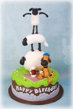 ^_^ shaun the sheep & blitzer cake