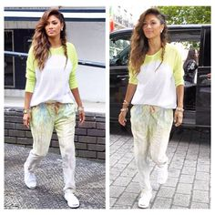 How gorge does Nicole Scherzinger look in our printed 'Tia' trousers!! Get yours here... http://www.foreverunique.co.uk/all-clothing/tia-multi-colour-printed-tailored-trousers/prod_3740.html