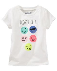 Crafted with soft cotton jersey and hand-drawn original graphics, these OshKosh tees are the ticket to a fun-filled outfit! <br>