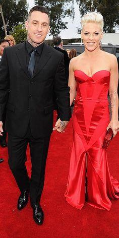 Grammys Awards 2014: Arrivals : People.com -- Carey Hart and Pink