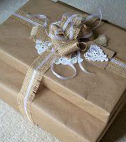 Burlap Gift Wrap Packaging