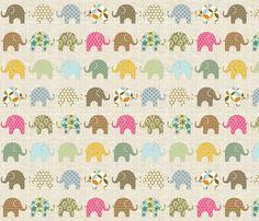 Colorful Ellie fabric by littlerhodydesign on Spoonflower - custom fabric
