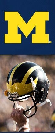 I'm a State fan, but since this is a MICHIGAN board I have to include at least one pic of the other school. Here it is, don't expect more (Unless I find a picture of Bo). Go Blue! U Of M Football, College Football Teams, Football Helmets, Football Season, Football Rivalries, Sports Teams, Michigan Athletics, Michigan Wolverines Football, Colleges In Michigan