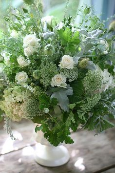 white, grey and green~lovely