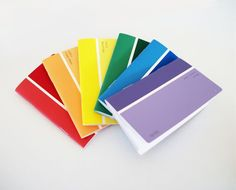 #Rainbow #Recycled Paint Sample Pocket Notebooks Ombre Note Books