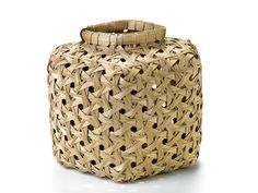 Jackie Abrams, Hexagonal Weave Basket #54, black ash and waxed linen thread, 7 ½ x 8 x 6 ¾ in., on view at the Renwick Gallery of the Smithsonian American Art Museum, October 4, 2013 – December 8, 2013