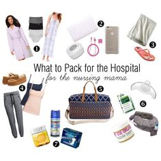 What to Pack for the Hospital // The Breastfeeding Mama by coll0509 on Polyvore featuring Charter Club, H&M, Ambrielle, Minnetonka, Merona, Case-Mate, My Brest Friend, PhunkeeTree, Jockey and Medela