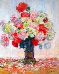 Claude Monet, Vase de Pivoines, 1882 on ArtStack #claude-monet #art                                                                                                                                                     More