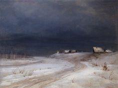 Artist Alexej Kondratjewitsch Sawrassow Winter Landscape, 1880-1890