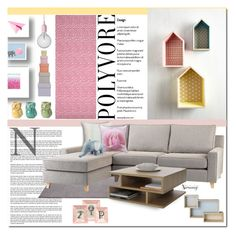 """""""Pastel"""" by naomimjc ❤ liked on Polyvore featuring interior, interiors, interior design, home, home decor, interior decorating, Muuto, A&B Home, ESPRIT and HAY"""