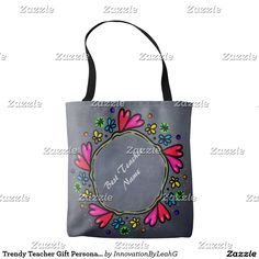 Trendy Teacher Gift Personalized Bag Tote Bag