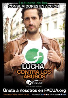 Juan Diego Botto, socio de FACUA nº 56.184, llama a los consumidores a la lucha contra los abusos