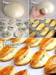 Yeast-Free Practical Pastry Recipe, How To … – Womanly Recipes – Delicious, Practical and Delicious Food Recipes Site - fleischrezepte Donut Recipes, Pastry Recipes, Meat Recipes, Dessert Recipes, Chicken Recipes, Yummy Recipes, Pain Garni, Most Delicious Recipe, Delicious Dishes