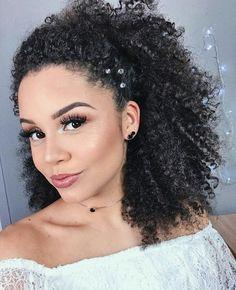 Afro hairstyles simple and cute. going natural- afro chick п Black Hair Updo Hairstyles, Latest Hairstyles, Easy Hairstyles, Wedding Hairstyles, Hairstyle Ideas, Mixed Girl Hairstyles, Curly Wedding Hair, Mixed Hair, Natural Hair Styles