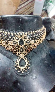 Bridal Jewelry, Gold Jewelry, Diamond Jewellery, Indian Jewelry, Cuff Bracelets, Chokers, Fashion Jewelry, Jewels, Gemstones