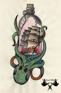 trendy tattoo old school rockabilly ideas - Octopus Tattoo Octopus Tattoos, Mermaid Tattoos, Dog Tattoos, Tattoo Old School, Tatto Old, Back Tattoo, Ancora Old School, Naval Tattoos, Tatuagem Old Scholl