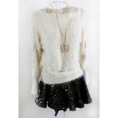 $10.89 Cable Knit Openwork Mohair Solid Color Sweater For Women