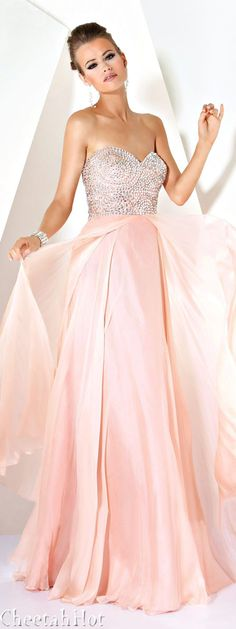 JOVANI - Sweet Blush Gown... I would wear this as my wedding dress I love it so much