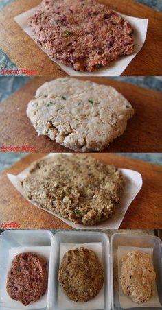 Steak végétaux maison pour les nuls  http://famillevegan.fr/2012/05/08/recette-de-steak-vegetal-bio-facile-rapide-et-pas-cher/
