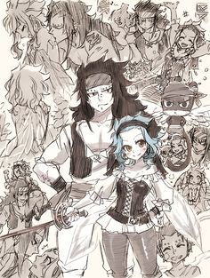 Gajeel and Levy collage