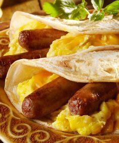 Breakfast Taco Bar | Johnsonville. A tasty, easy way to serve a crowd! #breakfast #breakfastforacrowd