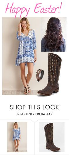 """""""Happy Easter!"""" by cowboyboots4ever ❤ liked on Polyvore featuring Corral and NOVICA"""