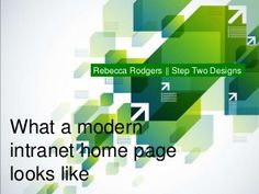 What a modern intranet home page looks like