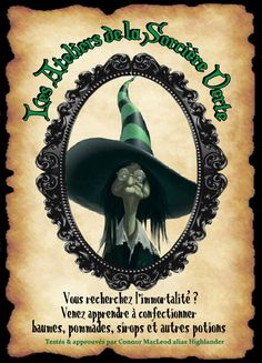 affiche sorciere Halloween House, Halloween Town, Holidays Halloween, Halloween Decorations, Mundo Harry Potter, Theme Harry Potter, Fantasy Witch, Witch Art, Halloween Apothecary Jars