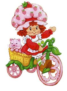 I had this Strawberry Shortcake bicycle for my dolls. The styling was very cute.