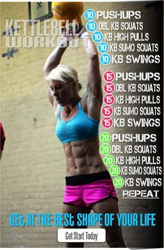 Kettlebell workout. Do all sets then repeat. Great workout!