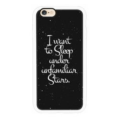 "iPhone 6 Plus/6/5/5s/5c Case - ""I Want to Sleep Under Unfamiliar... ($40) ❤ liked on Polyvore featuring accessories, tech accessories, phone cases, phones, cases, tech, iphone case, apple iphone cases, white iphone case and iphone cover case"