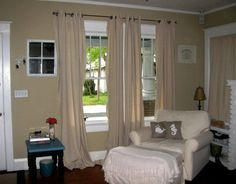 You get a SET = 2 PANELS. Canvas Curtains, Swag Curtains, Cute Curtains, Privacy Curtains, Short Curtains, Drop Cloth Curtains, Linen Curtains, Curtain Fabric, Windows Side By Side