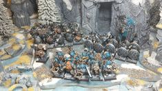 Quickstarter Dwarves - The Age Warhammer Dwarfs, Fantasy Miniatures, Warhammer Fantasy, Old World, Diorama, Minis, Battle, Old Things, Skull