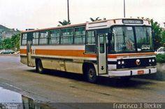 Ônibus da empresa Canasvieiras Transportes, carro 1137, carroceria CAIO…