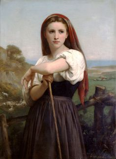 Young Shepherdess by William Adolphe Bouguereau Handmade oil painting reproduction on canvas for sale,We can offer Framed art,Wall Art,Gallery Wrap and Stretched Canvas,Choose from multiple sizes and frames at discount price. William Adolphe Bouguereau, Jean Leon, Beaux Arts Paris, Munier, Oil Painting Reproductions, Renoir, Beautiful Paintings, Oil Painting On Canvas, Oil Paintings