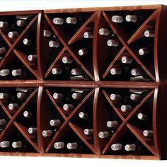 Diamond-shelved wine rack