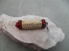 A personal favorite from my Etsy shop https://www.etsy.com/listing/229499002/red-black-cork-key-chain-cork-designs