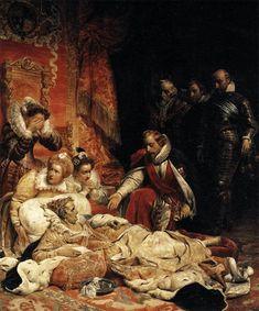 Death of Elizabeth I, Queen of England, 1828 Paul Delaroche