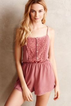 Sexy-Mauve-ANTHROPOLOGIE-Lace-Chiffon-Intimate-Eloise-Jumpsuit-Romper-Playsuit-M