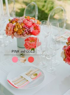 pink and gold brial shower color palette ideas