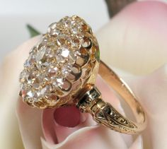 Antique Victorian Old Mine Cut 2.20cts Diamond Ring - Simply Smashing!