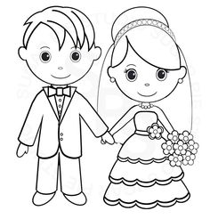 17 Best Wedding coloring pages images | Wedding ideas, Bridal ...