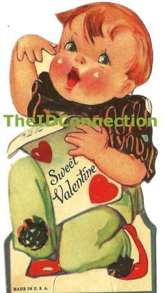 Image result for WOMENS STOLES VINTAGE VALENTINE CARD