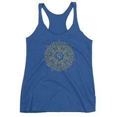 Mandala Om Symbol Buddhism Buddha Yogi Yoga Women's tank top